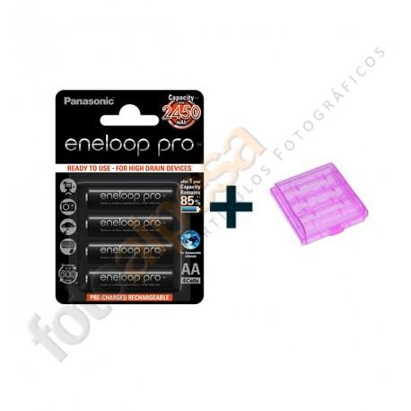 Pilas recargables Eneloop ProXX 2450 mAh.