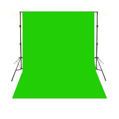 Tela verde fondo de estudio 3x6m (Chroma key)