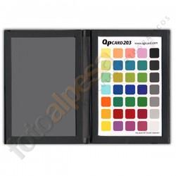 Carta calibración cámaras Qp Card 203