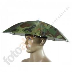 Paraguas -Sombrero camuflaje