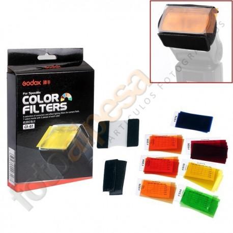 35 Geles Godox CF-07 para flash de mano.