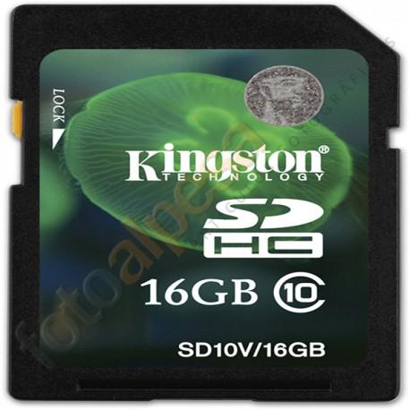 KINGTON -   Tarjeta de memoria flash SDHC - 16 GB - Class 10
