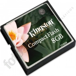 KINGTON -  Tarjeta de memoria flash - 8 GB – Compact-Flash