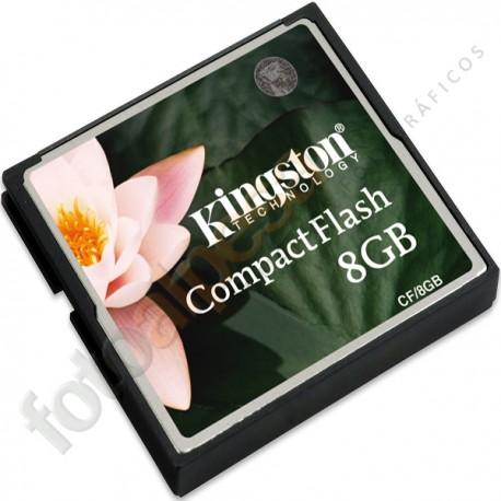 KINGTON -  Tarjeta de memoria flash - 8 GB – Compact-Flash