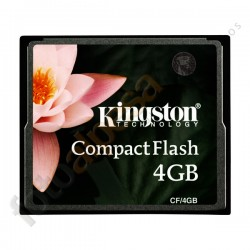 KINGTON -  Tarjeta de memoria flash - 4 GB – Compact-Flash