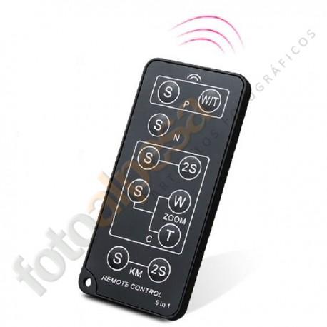 Disparador infrarrojos universal para Canon, Nikon, Pentax, Olympus, Konica/Minolta y Sony