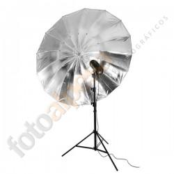 Paraguas Negro-Plata 150cm