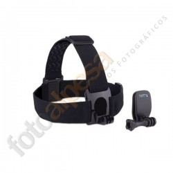 Head Strap Mount + QuickClip. Frontal Elástico