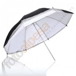 Paraguas Translúcido/plata/Negro 33´´ (83cm)