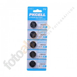 Pila botón CR2032 3V/210mAh de Litio
