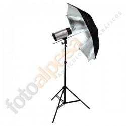 Paraguas negro/plata 33´´ (83cm)