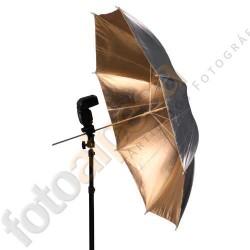 Paraguas negro/oro 33´´ (83cm)
