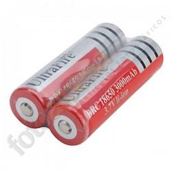 2 Pilas recargables Ultrafire 18650 - 3000mAh