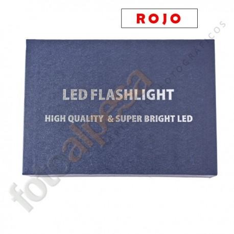 Linterna ultrafire WF-502B edición especial Roja