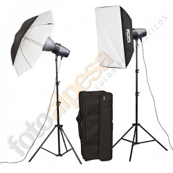 Kit Flash Estudio Basic Line BL-200-SB-UM Kit II