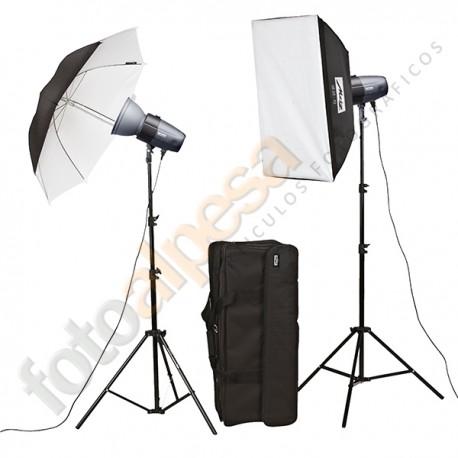 Kit Flash Estudio Basic Line BL-200-SB-UM Kit II