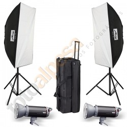 Kit Flash Estudio Top Line Metz TL-300-SB Kit II