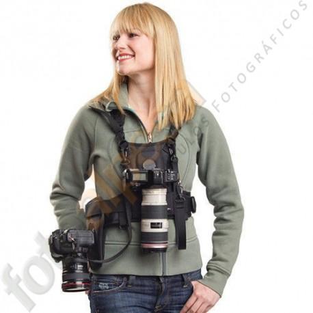 Arnés profesional MQ-MSP01 para 2 cámaras DSLR