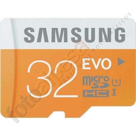 Tarjeta de memoria Samsung EVO MicroSDXC 32Gb