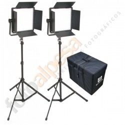 NANGUANG KIT 2 PANEL LED CN-600SA CON ALETAS LUZ DIA