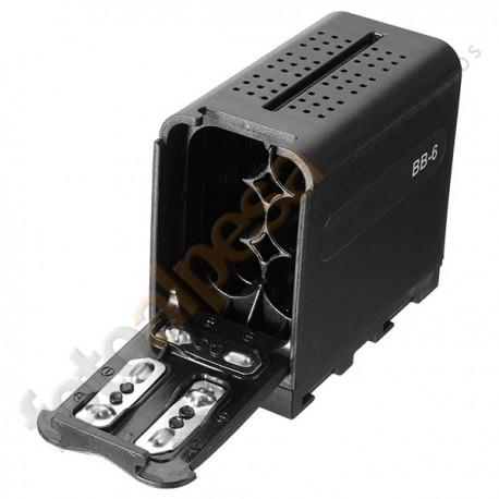 Adaptador de Pilas AA para baterías tipo NP-970